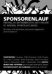 PDF Sponsorenlauf - FC Weesen