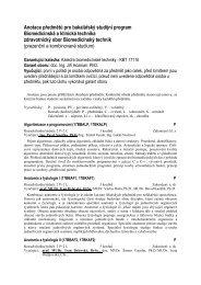 Anotace předmětů pro bakalářský studijní program ... - FBMI