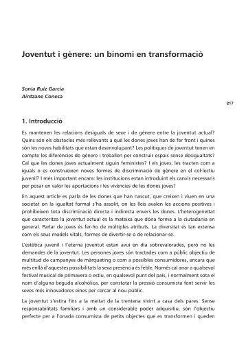 Joventut i gènere: un binomi en transformació
