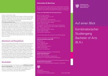 Ueberblick_KBA 16.04.indd - BERGISCHE UNIVERSITÄT ...