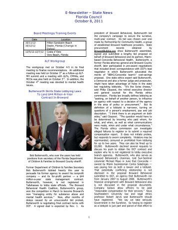 State News, October 8, 2012 - Florida Council for Community Mental ...