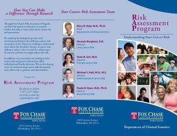 Risk Assessment Program - Fox Chase Cancer Center