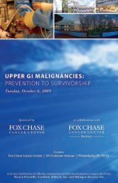 Brochure - Fox Chase Cancer Center