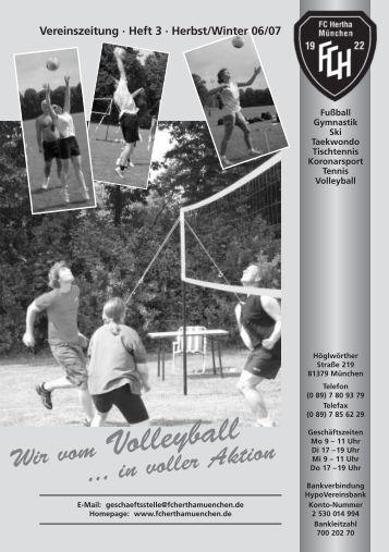 Zeitung downloaden - FC Hertha München eV