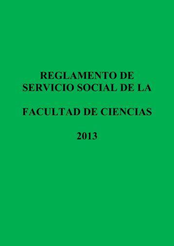 reglamento de servicio social de la facultad de ciencias 2013