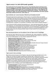 Sport vereint Jahresbericht PDF - FC Haag