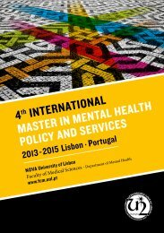 4th InternatIonal Master In Mental HealtH PolIcy and servIces