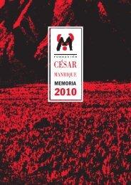Memoria 2010 - Fundación César Manrique