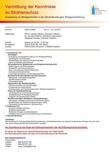 Adobe Acrobat Document - Fortbildungsakademie Zahnmedizin ...