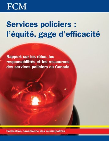 Services policiers : l'équité, gage d'efficacité - FCM