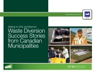 Waste Diversion Success Stories from Canadian Municipalities - FCM