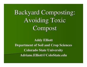 Backyard Composting: Avoiding Toxic Compost