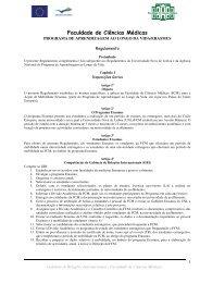 Regulamento do programa Erasmus - Faculdade de Ciências ...