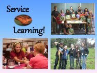 Service Learning Overview - Fairfax County Public Schools