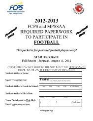Football - Frederick County Public Schools