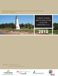 climate change adaptation action plan for stratford, pei - FCM