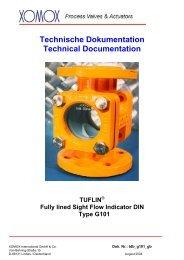 Technische Dokumentation Technical Documentation - Fluid Control ...