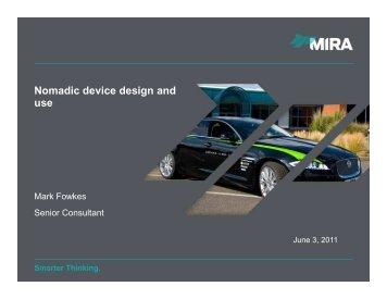 Nomadic device design and use - Federation of Communication ...