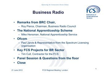 Tim Cull - Federation of Communication Services