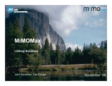 MiMOMax - Federation of Communication Services