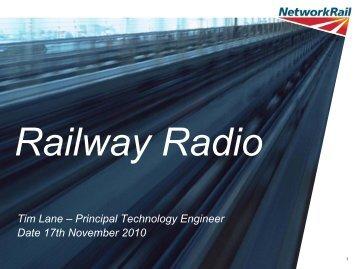Tim Lane, Network Rail - Federation of Communication Services