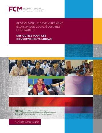 Promouvoir le déveloPPement économique local équitable et ... - FCM