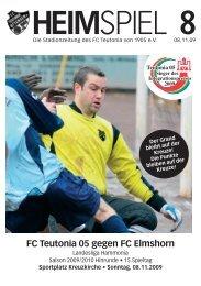 Heimspiel 8, T05 - FC Elmshorn - FC Teutonia 05 eV