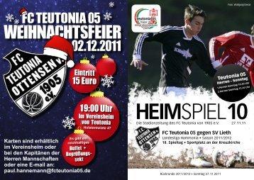 Heimspiel 10, T05 - FC Teutonia 05 eV