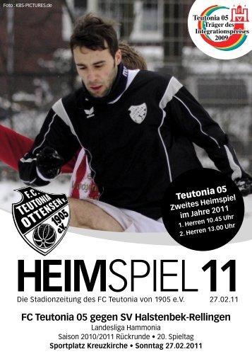 Heimspiel 11, T05 - SV Halstenbek Rellingen - FC Teutonia 05 eV