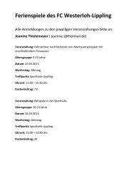 Herunterladen - FC Westerloh-Lippling