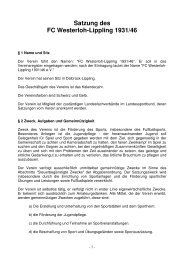 Satzung des FCW-Lippling - FC Westerloh-Lippling