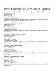 Programm hier herunterladen - FC Westerloh-Lippling