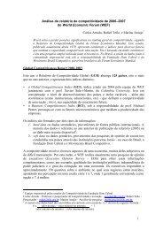 1 Análise do relatório de competitividade de 2006–2007 do World ...