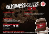 preiSe SaiSOn-BuSineSS-SeatS haupttriBüne 2.800 ... - FC St. Pauli