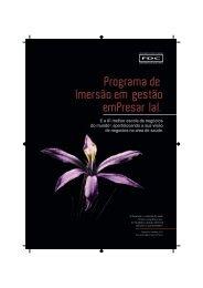 Programa de Imersão em gestão emPresar Ial.