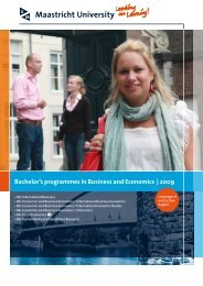 Bachelor's programmes in Business and Economics | 2009