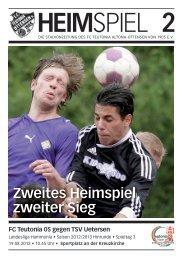 Heimspiel 2, T05 - Uetersen - FC Teutonia 05 eV