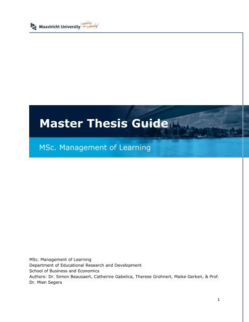 maastricht university sbe master thesis