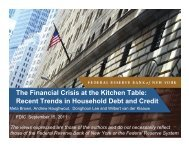The Financial Crisis at the Kitchen Table: Recent Trends in ... - FDIC