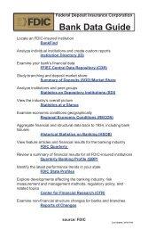 Bank Data Guide - PDF - FDIC