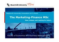 What is Marketing-Finance? - School of Business and Economics ...