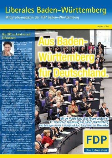Liberales Baden-Württemberg 4/09 - FDP Baden-Württemberg
