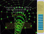 on one-electron atom in the neighborhood of a black hole
