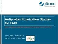 Depolarization Studies at COSY
