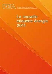 La nouvelle étiquette énergie 2011 - CH