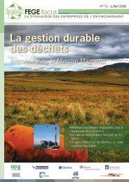 La gestion durable des déchets - FEBEM - Federatie van Bedrijven ...