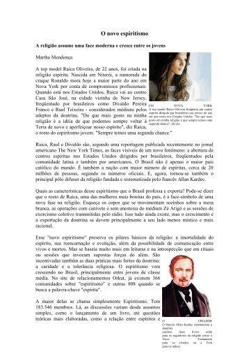 O novo espiritismo - Federação Espírita Brasileira