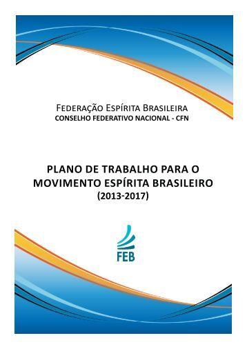 plano de trabalho para o movimento espírita brasileiro - fergs