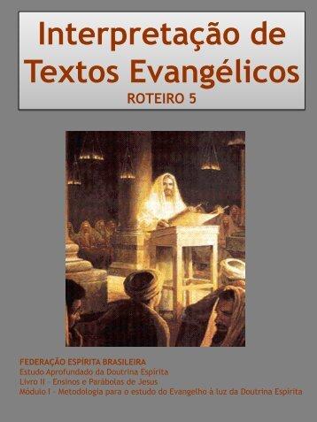 Interpretação de Textos Evangélicos - Federação Espírita Brasileira