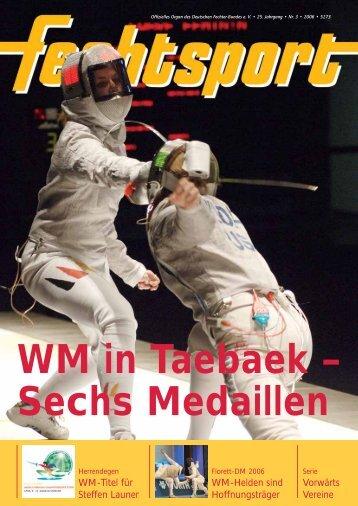 WM in Taebaek – Sechs Medaillen - Deutscher Fechter-Bund eV